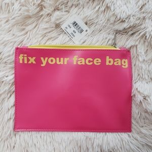 NWT fix your face cosmetic bag